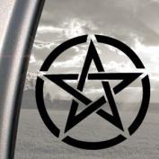 Pentagram Black Decal Truck Bumper Window Vinyl Sticker