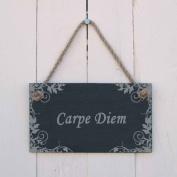 'Carpe Diem' Slate Hanging Sign