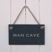 'MAN CAVE' Slate Hanging Sign