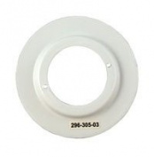 Pack of 10 - White Metal Shade Reducing Ring