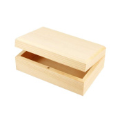 Creativ 1-Piece Wooden Jewellery Box Magnetic Catch Lift Up Lid