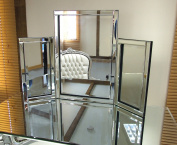 Dressing Table Mirror Modern Clear Venetian Tri-Fold Free Standing Bedroom