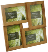 Standing & Wall Mounted 4 Picture Photo Frame 10cm x 15cm Wooden Effect Multi Quad Layered