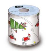 Christmas Designer Toilet Paper Santas So Busy