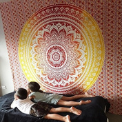 Tapestry Wall Hanging, Hippie Mandala Tapestries, Bohemian Bedspread Tapestry, Ombre Mandala Tapestries, Boho Gypsy Beach Throw, Dorm Wall Tapestries, Ethnic Wall Art