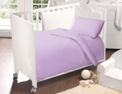 Love2Sleep 200 TC LUXURY EGYPTIAN COTTON COT BED FITTED SHEET 70 X 140 CM LILAC