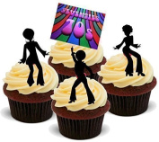 NOVELTY SEVENTIES PSYCHODELIC DISCO PARTY MIX 'A' - Standups 12 Edible Standup Premium Wafer Cake Toppers - 2 x A5 sheet - 12 images