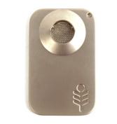Silver Palm Leaf Credit Card Size Pipe - matt finish