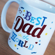 Best Dad In The World Mug - Great Father's Day or Birthday gift idea for your Dad.