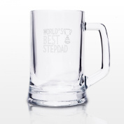 World's Best Step Dad Stern Tankard Beer Glass Father's Day Birthday Christmas Novelty Present Gift