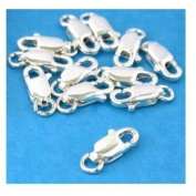12 Sterling Silver Lobster Claw Clasps Jewellery Findings