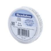Beadalon 2.3mm Jewellery Making Chain, 5m, Dapped Small Cable, Silver Plated