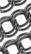 Gun Metal Finish Steel Parellel Link Curb Chain 7mm Bulk By The Foot