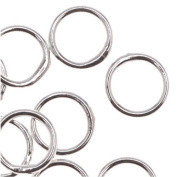 Silver Plated Closed Jump Rings 6mm 20 Gauge