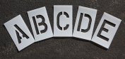 RAE - 10cm ALPHABET KIT Plastic Letters Paint Stencils, 0.2cm - for use with any paint - STL-116-8045