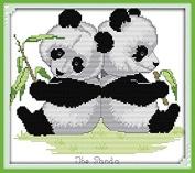 Happy Forever Cross Stitch, animals, panda twins