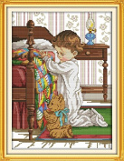 Happy Forever Cross Stitch, figure, The prayer beside the bed