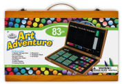 Royal Brush Manufacturing Company Art Adventure 83-Piece Wood Box Art Set