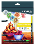 LYRA Aqua Brush Duo Brush Painters, Set of 24 Pens, Assorted Colours