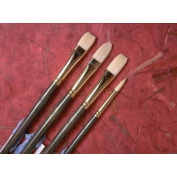 Synthetic Hair Filbert Brush [Set of 2] Size