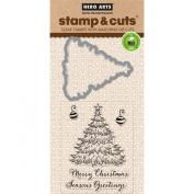 Hero Arts Scrapbooking Stamp and Die Cuts, Christmas Tree