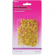 Brass Plated Safety Pins. Assorted Size. Pack of 175 Pcs