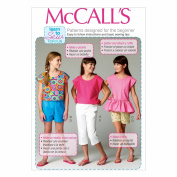 McCall Pattern Company M6917 Children's/Girls Tops Shorts and Pants, Size CHJ