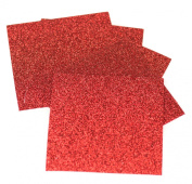 Expressions Vinyl - Red - 23cm x 30cm 5-pack Siser Glitter Iron-on Heat Transfer Vinyl Sheets