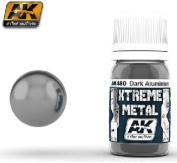 AK Interactive Xtreme Metal Dark Aluminium Metallic Paint 30ml Bottle Model Kit Paint Car Plane