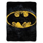 Batman 'Dark Knight Shield' Super Plush Fleece Throw Blanket
