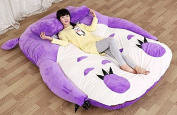 lavender colour Totoro Double bed Totoro bed Totoro sleeping bag Purple (2.2x1.7m) New