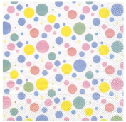 Ideal Home Range 20 Count Paper Luncheon Napkins, Oh Baby Dots