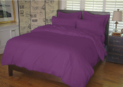 Warm Things Home 300 Egyptian Cotton Duvet Cover Set Purple Twin