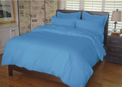 Warm Things Home 300 Egyptian Cotton Duvet Cover Set Blue Aster Twin