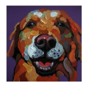 Animal Picture Print,Colourful Dog Wall Art And Home Decoration,Canvas Art Print On Canvas,Unstretched And Unframed Size:25cm x 25cm