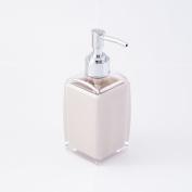 JustNile Contemporary Plastic Soap (Pump) Dispenser - Opaque Off-White