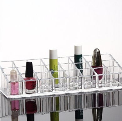 24 Clear Acrylic Lipsticks Cosmetic Makeup Storage Organiser