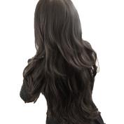 Sunward Fashion Womens Girls Wavy Curly Full Long Hair Human Wigs + Hairnet
