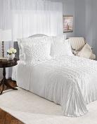 Sylvia Chenille White Bedspread By Renaissance Home Fashion