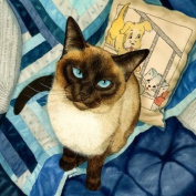 Study in Blue Matted Mini Print by Drew Strouble