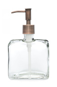 Urban Square Recycled Glass Soap Dispenser with Metal Pump