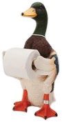 Rivers Edge Products Standing Duck Toilet Paper Holder