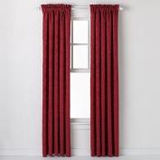 HLC.ME Portofino Burgundy Jacquard Curtain Panels - 140cm by 210cm inches