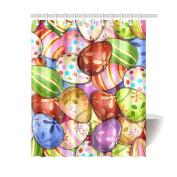 Unique Custom Happy Easter Fashionable Colourful Eggs Design Background Waterproof fabric Polyester Shower Curtain 150cm x 180cm -Bathroom Decor