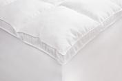 Rio Home Fashions Microfiber Baffled Box California King Fiberbed with Bed Skirt, White