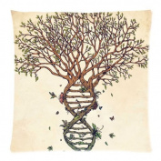 Awesome Tree Art Zippered Twin Sides Pillowcase Pillow Cases Cover Home Decorative 18 * 46cm