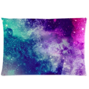 Universe Space Nebula Galaxy Pattern Custom Zippered Bed Pillow Cases 20x30