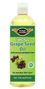 #1 Grape Seed Oil 470ml by Belleza Solutions - 100% Pure Cold pressed and Hexane free - No Synthetic Preservatives, Colours or Fragrances - 100% Pure Sensitive Skin Care