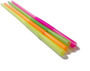 Perfect Stix Flexible , Bendy Straws Wrapped Neon Assorted