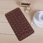 CY-buity Alphabet Letter Number Birthday Silicone Tray Chocolate Mould Cake Topper Fondant